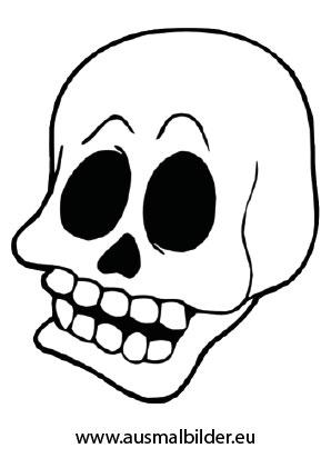 Ausmalbild Totenkopf