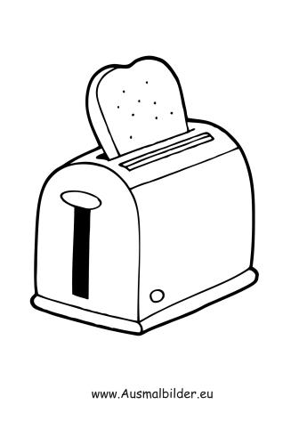 Ausmalbilder Toaster Haushaltsger 228 Te Malvorlagen