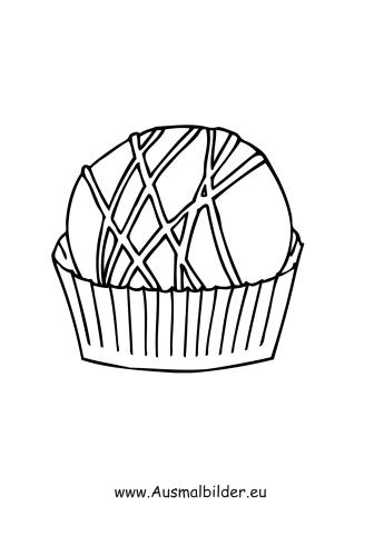 Ausmalbild Muffin kostenlos ausdrucken
