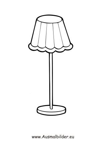 Ausmalbilder Stehlampe - Möbel Malvorlagen