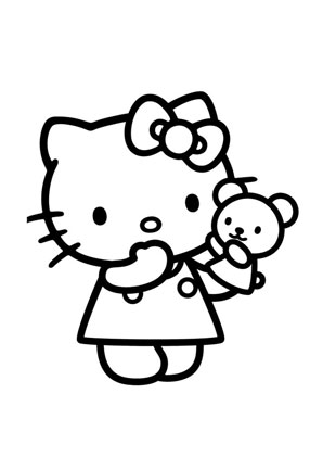 Ausmalbilder Kitty Und Ihr Kleiner Bär Hello Kitty Malvorlagen