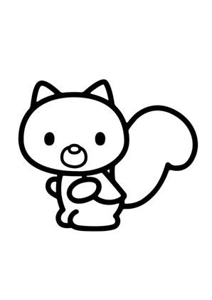ausmalbilder kittys hamster sugar - hello kitty