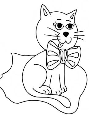 ausmalbild katze sitzt auf decke zum ausdrucken