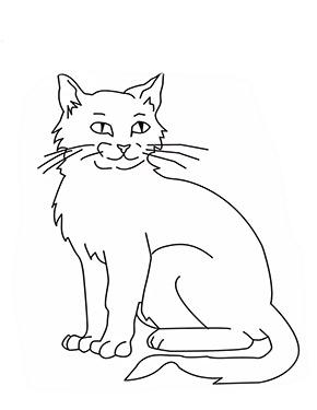 ausmalbild sitzende katze zum ausdrucken