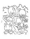 Katzenbabys im Garten Ausmalbild