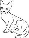 braune Katze Ausmalbild