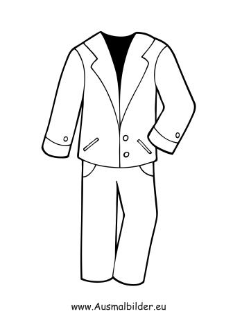 Ausmalbilder Anzug - Kleidung Malvorlagen