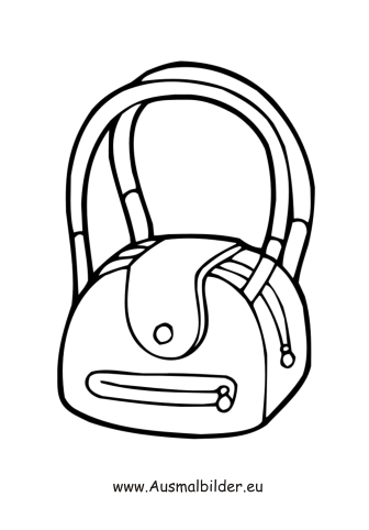 Handtasche ausmalbild  diverse_malvorlagen/beliebt/bucher_05.JPG | Ausmalbilder ...