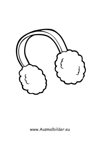 Ausmalbilder Ohrenwärmer Kleidung Malvorlagen