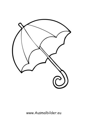 Ausmalbilder Regenschirm - Kleidung Malvorlagen