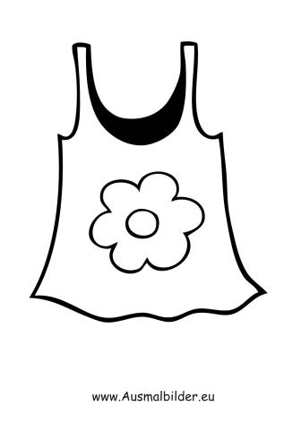 Ausmalbilder Schönes Sommertop - Kleidung Malvorlagen