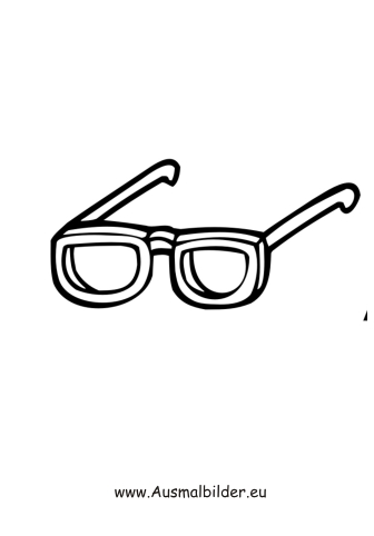Ausmalbilder Sonnenbrille Kleidung Malvorlagen