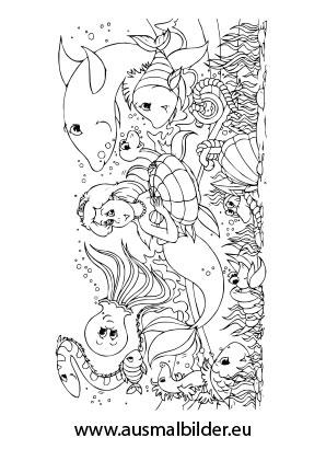 ausmalbild ariel die meerjungfrau kostenlos ausdrucken