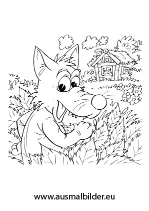Ausgezeichnet Rotkäppchen Wolf Malvorlagen Ideen - Entry Level ...