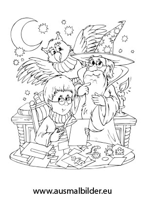 ausmalbilder merlin der zauberer - märchen malvorlagen ausmalen