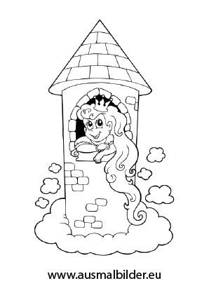 Ausmalbilder Rapunzel Märchen Malvorlagen Ausmalen