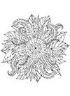 Ausmalbild Blüte