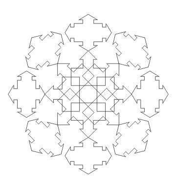 Ausmalbild Abstraktes Mandala