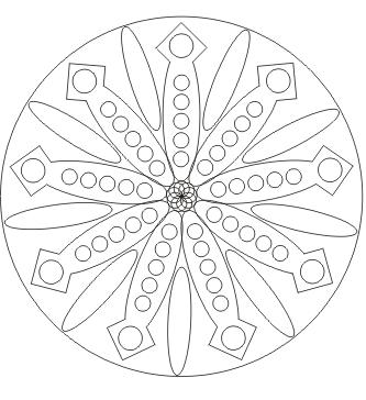 Ausmalbild Ausmalbild Mandala