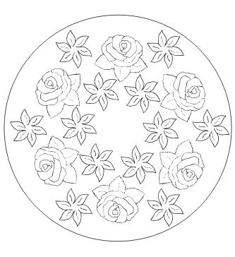 Ausmalbilder Blumen Mandala Malvorlagen