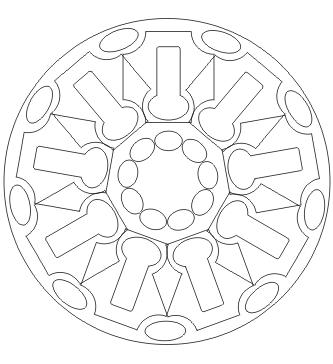 Ausmalbilder Formen Mandala - Malvorlagen