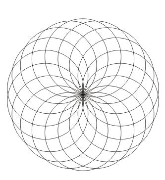 Ausmalbild Kreis Mandala