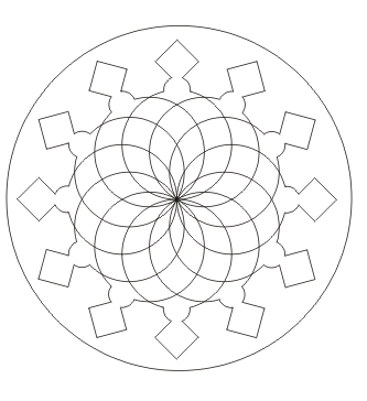 Ausmalbild Mandala Malvorlage