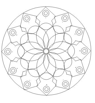 Ausmalbild Mandala Malvorlagen