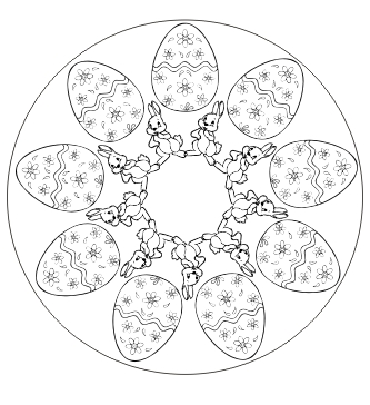 Ausmalbilder Mandala für Ostern - Malvorlagen