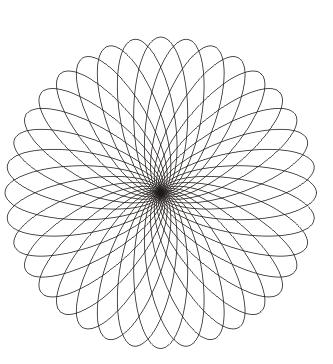 Ausmalbild Mandala mit Elipse
