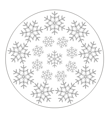 ausmalbild mandala mit schneeflocken kostenlos ausdrucken