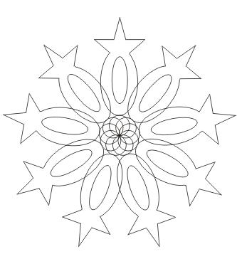 Ausmalbild Mandala mit Sternen