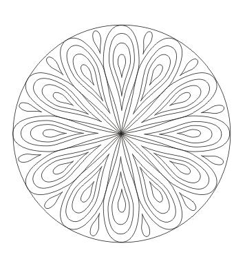 Ausmalbild Mandala mit Tropfen