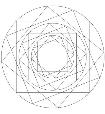 Ausmalbild Quadrat Mandala