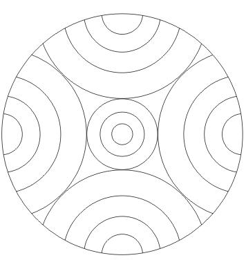 Ausmalbilder Regenbogen Mandala - Malvorlagen