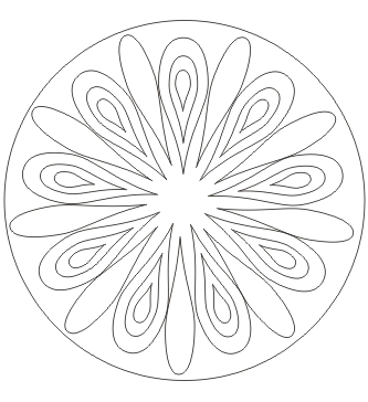 Ausmalbild Tropfen Mandala Kostenlos Ausdrucken