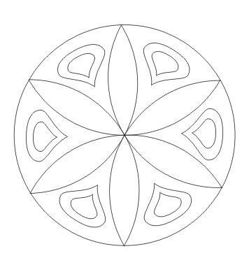 Ausmalbild einfaches Mandala