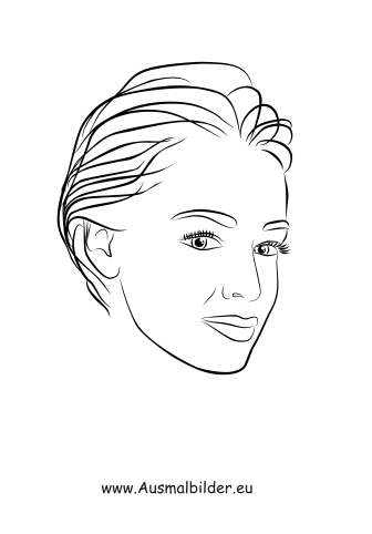 Ausmalbilder Kurzhaarschnitt - Gesichter und Frisuren Malvorlagen