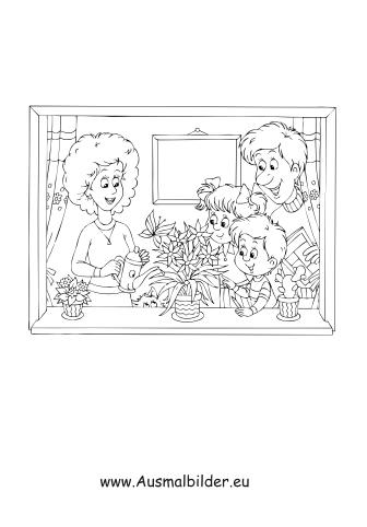 ausmalbild familie kostenlos ausdrucken