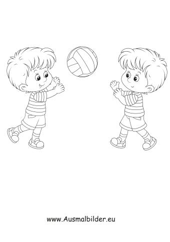 Ausmalbild Handball Spielen Kostenlos Ausdrucken