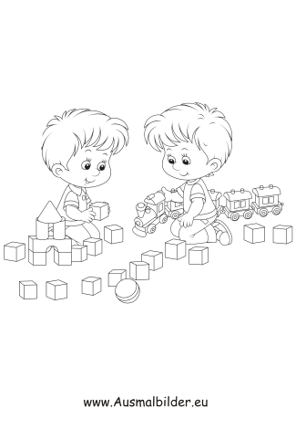 Ausmalbilder Kinder Beim Spielen Kinder Malvorlagen