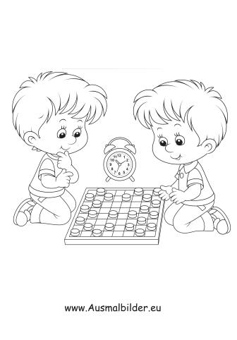 Ausmalbilder Mühle Spielen Kinder Malvorlagen