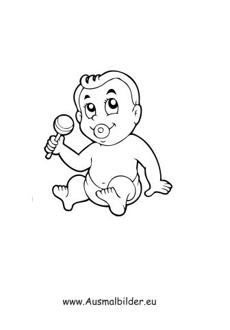 Ausmalbilder Baby Menschen Malvorlagen
