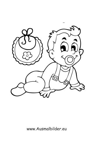 Ausmalbilder Krabbelndes Baby - Menschen Malvorlagen
