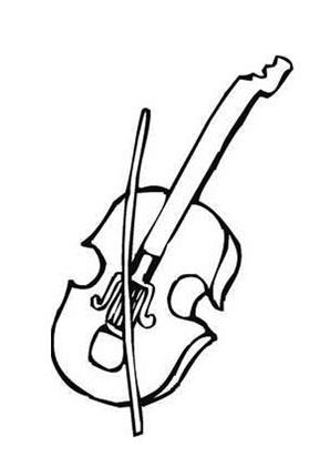 Ausmalbilder Geige Musik Malvorlagen