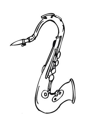 ausmalbilder saxophon - musik malvorlagen