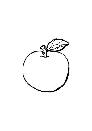 Ausmalbilder Ausmalbilder Apfel