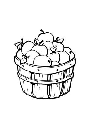 Ausmalbilder Apfelkorb Obst Und Gemüse Malvorlagen