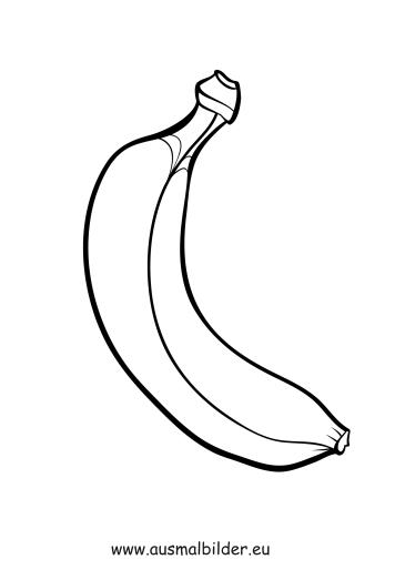 Ausmalbilder Banane - Obst und Gemüse Malvorlagen
