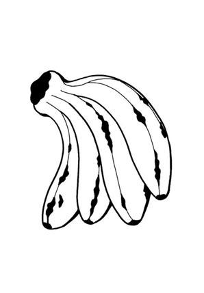 Ausmalbilder Bananen - Obst und Gemüse Malvorlagen